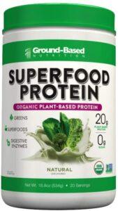 最佳有机食物蛋白粉 Ground-Based Nutrition Certified Organic Superfood Protein Power