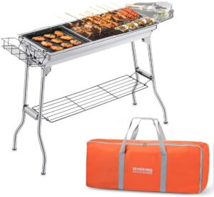 最简易适合烤羊肉串的烧烤炉 Portable BBQ Grill Large Charcoal Grill