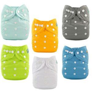通气性强的布尿布 ALVABABY Baby Cloth Diapers One Size Adjustable