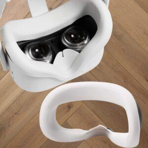 避免整个VR眼镜冒汗的最佳方法,使用Topcovos VR界面盖 Topcovos Newest VR Silicone Interfacial Cover for Oculus Quest 2