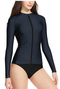 防紫外线防晒泳衣上衣 TSLA Water Surfing Long Sleeve Swimwear