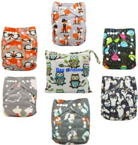 Ohbabyka可调式布尿布 Ohbabyka Adjustable Washable Reusable Pocket Cloth Diapers