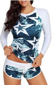 Runtlly防晒长袖泳装 Runtlly Womens Long Sleeve Rash Guard Swimsuit