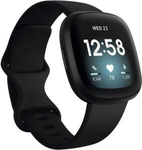健身智能手表 Fitbit Versa 3 Health & Fitness Smartwatch with GPS
