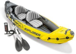充气皮划艇 Intex explorer k2 kayak, 2-person inflatable kayak set
