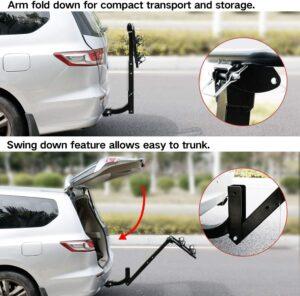 坚固耐用的 Leader Accessories Hitch Mounted 2 Bike Rack