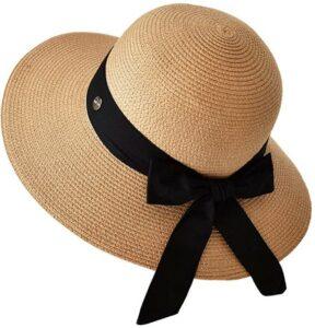 太阳帽 Lanzom Women Beach Sun Hat UPF50+
