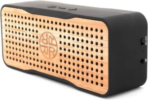 太阳能充电音箱 Solar Portable Wireless Bluetooth Bamboo Speaker