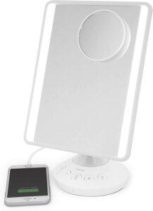 带蓝牙扬声器的ihome便携式带灯化妆镜 iHome ICVBT2 Bluetooth Headset for Universal
