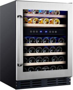 最优质的46瓶红酒冰柜 Kalamera 24'' Wine Cooler Refrigerator 46 Bottle