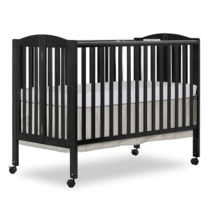 最佳可折叠婴儿床 Dream On Me Full Size 2 Position Folding Stationary Side Crib