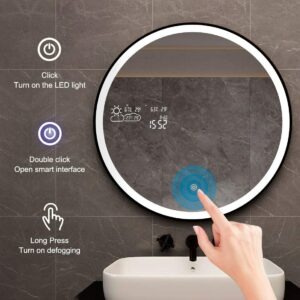 最佳壁挂式智能浴室镜 BYECOLD Vanity Lighted Makeup Mirror Smart Bathroom Mirror