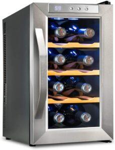 最佳8瓶迷你酒柜 Ivation Premium Stainless Steel 8 Bottle Thermoelectric Wine Cooler