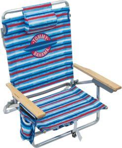 沙滩椅 Tommy Bahama 5-Position Classic Lay Flat Folding Backpack Beach Chair