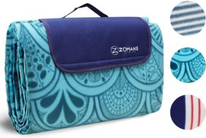 野餐毯子防水超大户外沙滩毯 ZOMAKE Picnic Blanket Mat Waterproof Extra Large