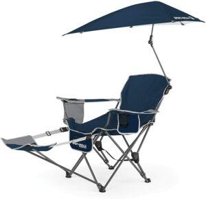 带遮阳伞的躺椅 Sport-Brella 3-Position Recliner Chair with Removable Umbrella and Footrest