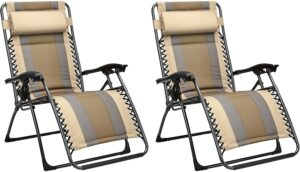 零重力休闲沙滩椅 Outdoor Padded Zero Gravity Lounge Beach Chair
