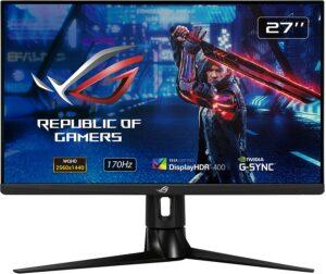 27寸华硕HDR游戏显示器1440P 2K Fast IPS 170Hz 1ms ASUS ROG Strix XG27AQ 27 Gaming Monitor