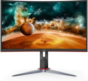 27寸超曲面2K 144Hz 1ms AOC游戏显示器 AOC CQ27G2 Super Curved Frameless Gaming Monitor