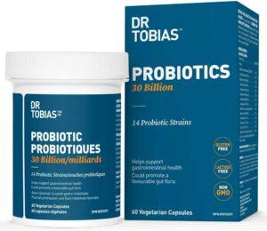 益生菌推荐Dr. Tobias Probiotic 30 Billion Supports Digestive Health