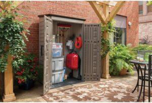 Rubbermaid 小型垂直树脂户外花园储物棚
