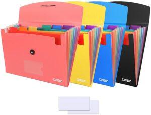 卡车司机必备文件夹 4 Pack 7-Pocket Expanding File