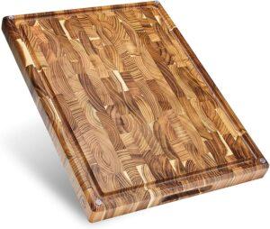 最佳木制切肉版 Sonder Los Angeles Large Thick End Grain Teak Wood Cutting Board