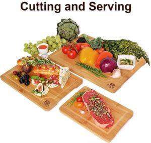 最佳竹制切肉板套装 Bamboo Cutting Board Set
