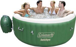 适合冬季使用的Coleman 90363E SaluSpa 充气热水浴缸 Coleman 90363E SaluSpa Inflatable Hot Tub Spa