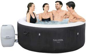 Bestway SaluSpa Miami 充气热水浴缸 Bestway SaluSpa Miami Inflatable Hot Tub, 4-Person AirJet Spa