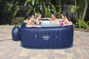 Bestway6 人户外充气热水浴缸水疗中心 Bestway 60022E SaluSpa Hawaii 71-Inch x 26-Inch 6 Person Outdoor Inflatable Hot Tub Spa
