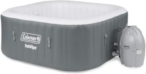 Coleman4人便携式充气户外方形热水浴缸 Coleman 15442-BW SaluSpa 4 Person Portable Inflatable Outdoor Square Hot Tub Spa