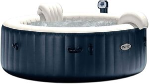 Intex 6人家用充气便携式加热圆形热水浴缸 Intex 28409E PureSpa 6 Person Home Inflatable Portable Heated Round Hot Tub Spa