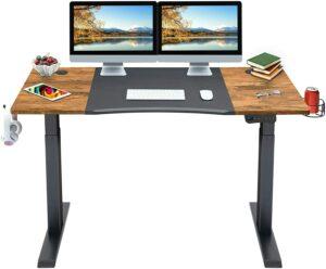 升降桌推荐Mr IRONSTONE Electric Height Adjustable Desk 53.5INCH Standing Desk