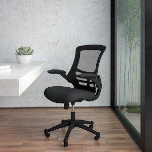 广受好评的一款中背网椅 Flash Furniture Mid-Back Black Mesh Swivel Ergonomic Task Office Chair