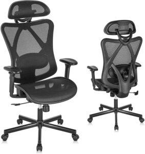 适用于办公室、家庭、游戏的高靠背的办公椅 SUNNOW Ergonomic Office Chair