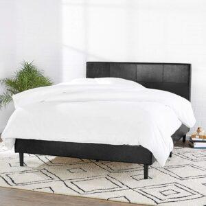美国床架推荐Amazon Basics Faux Leather Upholstered Platform Bed Frame
