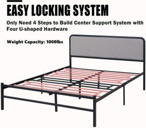 铁床架推荐Amerlife Queen Platform Bed Frame