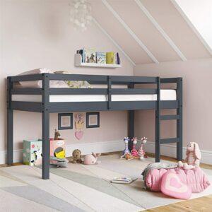 美国儿童床架推荐Dorel Living Milton Junior Twin Loft Bed Frame