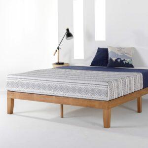 美国床架推荐Mellow Naturalista Classic Solid Wood Platform Bed