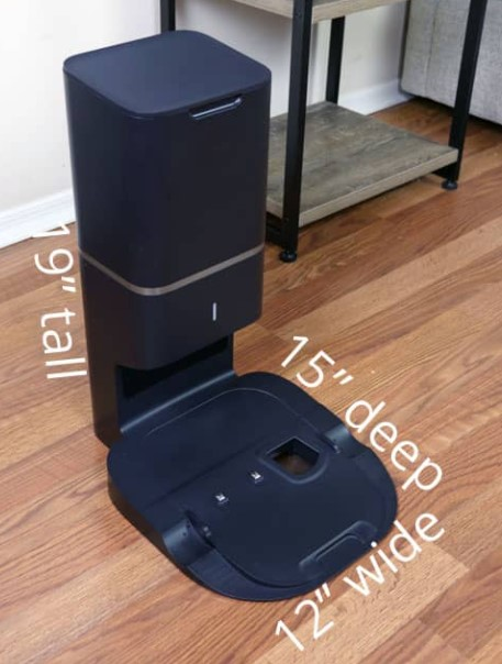 Roomba S9+的充电底座尺寸与 Roomba i7+ 上的 CleanBase 充电器相当。