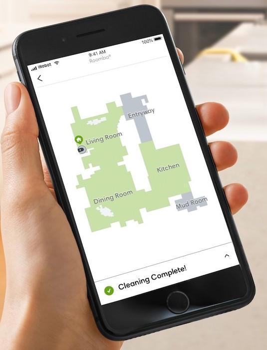 Roomba i7+ 上的智能导航功能