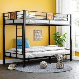 美国床垫推荐SHA CERLIN Metal Twin Size Bunk Beds Frame