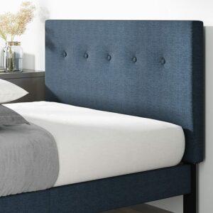 美国床架推荐ZINUS Omkaram Upholstered Platform Bed Frame