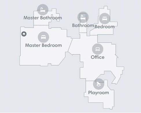 iRobot 应用程序上的智能地图功能