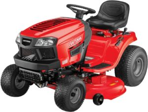便利性非常强的坐骑式除草机 Craftsman T150 19 HP Briggs & Stratton Gold 46-Inch Gas Powered Riding Lawn Mower