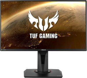 """华硕 TUF Gaming VG259QM ASUS TUF Gaming VG259QM 24.5"""" Monitor, 1080P Full HD (1920 x 1080), Fast IPS, 280Hz, G-SYNC Compatible, Extreme Low Motion Blur Sync,1ms, DisplayHDR 400, Eye Care, DisplayPort HDMI BLACK"""