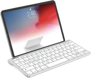 带集成支架的全尺寸无线键盘 Nulaxy KM13 Bluetooth Keyboard with Sliding Stand