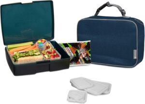 最佳多合一Bentology 儿童午餐袋和餐盒套装 Bentology Lunch Bag and Box Set for Kids