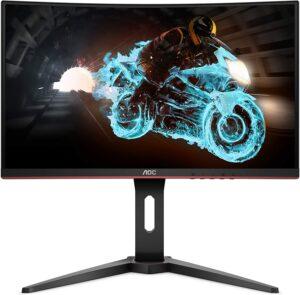 AOC C24G1A 24 曲面无框游戏显示器 AOC C24G1A 24INCH Curved Frameless Gaming Monitor, FHD 1920x1080, 1500R, VA, 1ms MPRT, 165Hz (144Hz supported), FreeSync Premium, Height adjustable